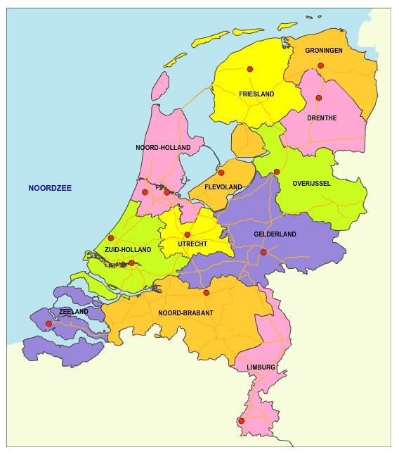 Nederland en 12 provincies